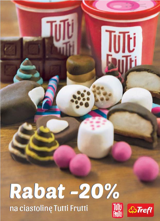 – 20 % rabatu na ciastolinę Tutti Frutti!