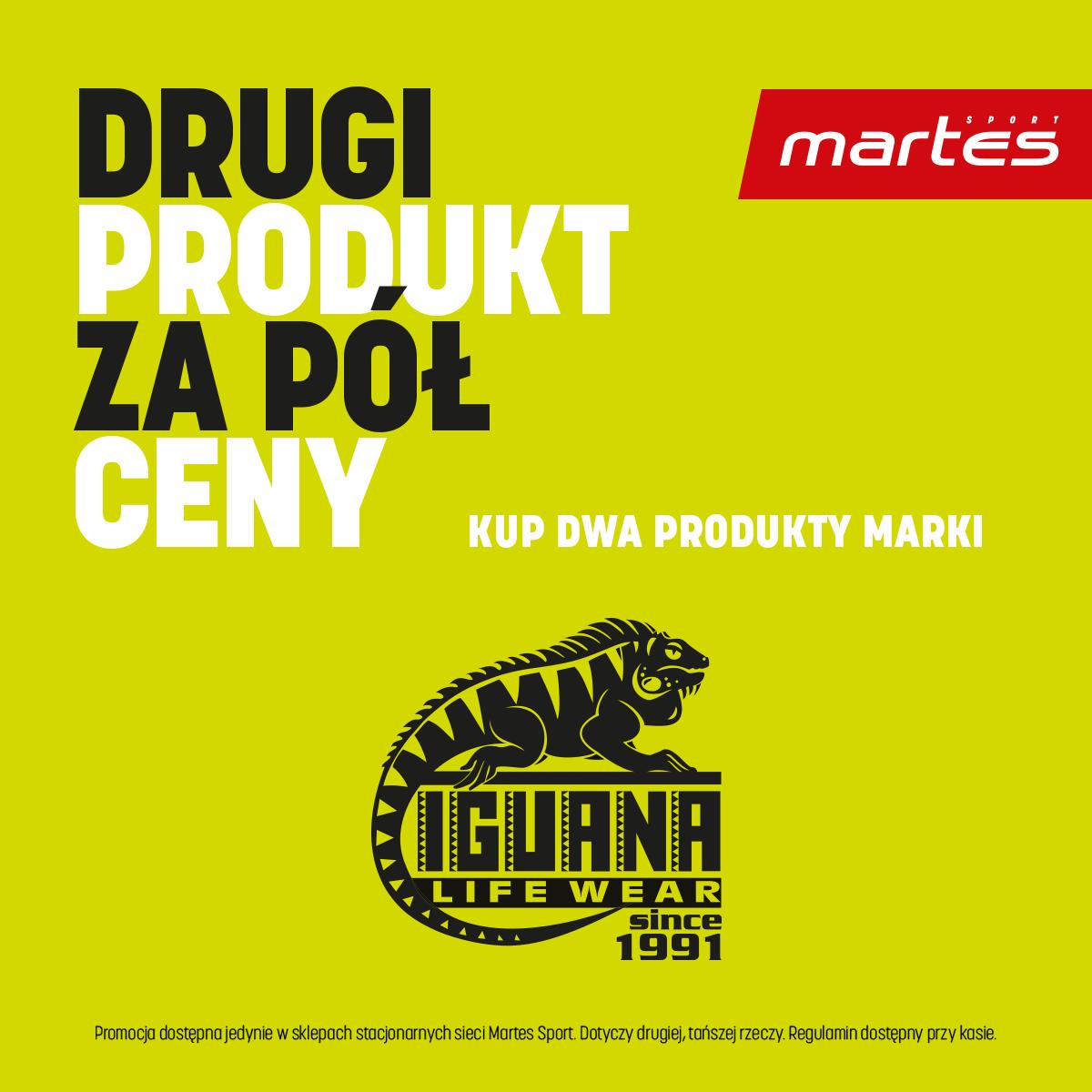 Promocje -50% na drugi produkt w Martes Sport