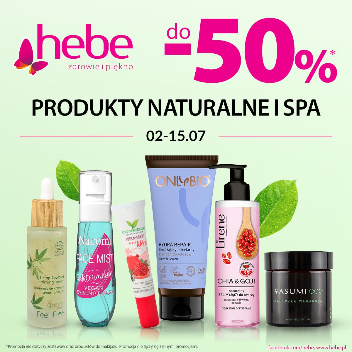 PRODUKTY NATURALNE I SPA do -50% taniej